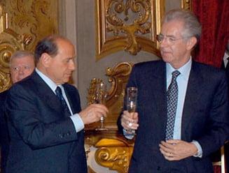 Silvio Berlusconi s-a intalnit cu Mario Monti, posibilul succesor