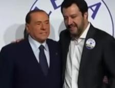 Silvio Berlusconi si Mateo Salvani au participat la un protest impotriva guvernui: Noi suntem poporul impotriva elitei!