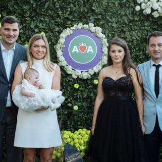 Simona Halep și Toni Iuruc au fost nași! Poza spectaculoasă: Hagi, Popescu și Ilie Năstase nu au lipsit de la petrecere FOTO