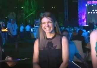 Simona Halep, aparitie stralucitoare la petrecerea jucatoarelor de la Dubai (Video)