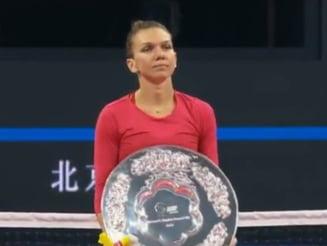 Simona Halep, discurs de mare campioana dupa ce a pierdut finala de la Beijing