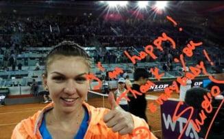 Simona Halep, in finala Roland Garros: Felicitari din Afganistan pana la Chisinau