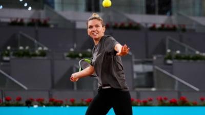 Simona Halep, in optimi la Madrid: ora meciului de marti cu belgianca Elise Mertens