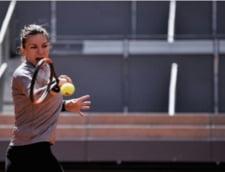 Simona Halep, invinsa de Kristina Mladenovici la Mutua Charity Manolo Santana