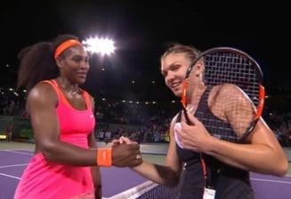 Simona Halep, invinsa de Serena Williams dupa un meci electrizant