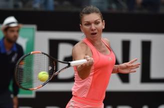 Simona Halep, invinsa in semifinale la Roma dupa un meci nebun