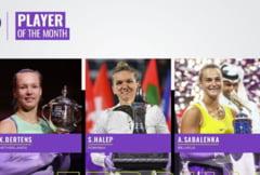 Simona Halep, nominalizata la titlul de jucatoarea lunii: Iata cu cine se lupta pentru aceasta distinctie