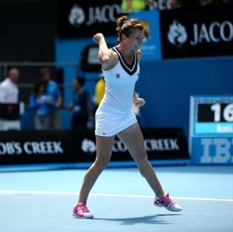 Simona Halep, ridicata in slavi la Australian Open