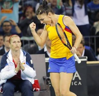 Simona Halep, victorie splendida cu Petra Kvitova in Fed Cup
