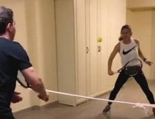 """Simona Halep a """"jucat"""" din nou tenis: Ce """"premiu"""" a castigat sportiva noastra (Video)"""