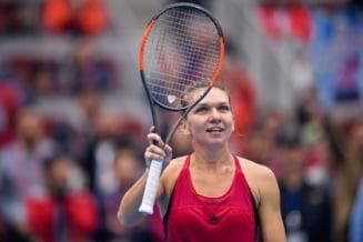 Simona Halep a abandonat in primul tur la Beijing