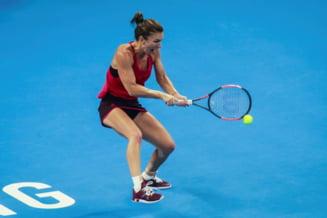 Simona Halep castiga fara emotii primul joc din 2018, la Shenzhen