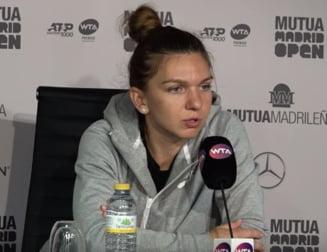 Simona Halep face un anunt ingrijorator inaintea sferturilor de finala de la Madrid: Nu sunt 100% sanatoasa