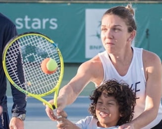 Simona Halep face un gest superb in Spania
