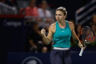 Simona Halep i-a cerut ajutorul lui Darren Cahill intr-un moment extrem de greu din finala de la Montreal