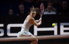 Simona Halep merge in turul II la Madrid dupa ce preda o lectie de tenis