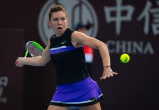 Simona Halep o invinge pe Bianca Andreescu la Turneul Campioanelor, dupa un meci electrizant