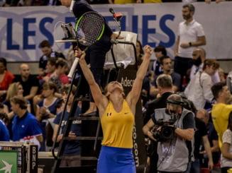 Simona Halep o invinge pe Caroline Garcia dupa o batalie dramatica, de peste trei ore