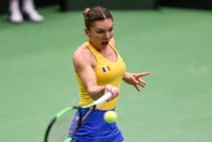 Simona Halep o invinge pe Kristina Mladenovic si aduce primul punct al Romaniei in semifinala de Fed Cup cu Franta