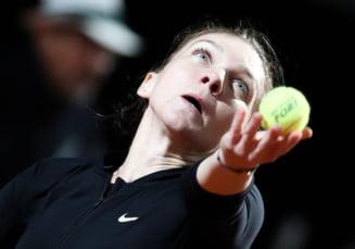 Simona Halep o invinge pe Maria Sharapova dupa un meci nebun si se califica in finala de la Roma