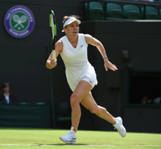 Simona Halep o spulbera pe Azarenka si se califica in optimi la Wimbledon