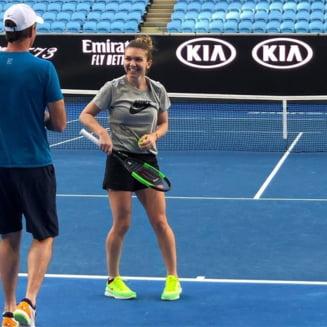 Simona Halep s-a antrenat alaturi de Darren Cahill, inainte de startul turneului de la Australian Open