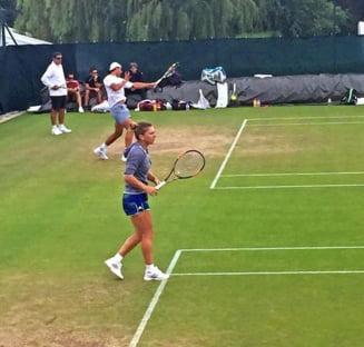 Simona Halep s-a antrenat cu doua nume uriase din tenis la Wimbledon