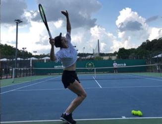Simona Halep s-a antrenat din nou sub comanda lui Darren Cahill (Video)