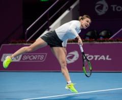 Simona Halep s-a calificat cu mari emotii in semifinale la Doha