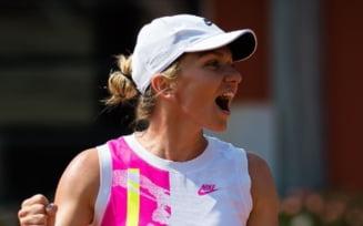 Simona Halep s-a calificat in optimi la Roma. Victorie in 2 seturi cu Jasmine Paolini, dar romanca n-a fost lipsita de emotii