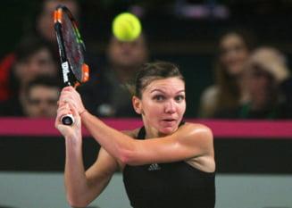 Simona Halep s-a calificat in optimi la Wuhan, dupa abandonul Irinei Begu