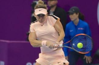 Simona Halep s-a calificat in sferturi la Doha