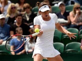 Simona Halep s-a calificat in sferturile de finala la Wimbledon