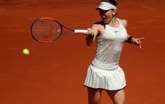 Simona Halep se califica in sferturi la Roma fara sa joace