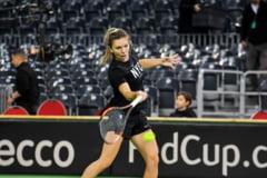 Simona Halep si Viktorija Golubic vor deschide sambata meciul de tenis Romania - Elvetia