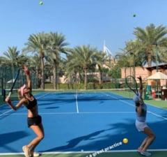 Simona Halep trage din greu la antrenamente: Cu ce tenismena cunoscuta se pregateste pentru sezonul viitor