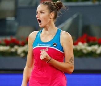 Simona Halep vs Karolina Pliskova, in sferturi la Madrid
