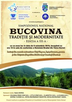 """Simpozionul National """"Bucovina -Traditie si modenitate"""", Vatra Dornei, 9 noiembrie"""