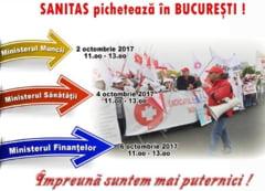 Sindicalistii din Sanatate au iesit din nou in strada si li se alatura si profesorii: Nu treceti contributiile la angajat!