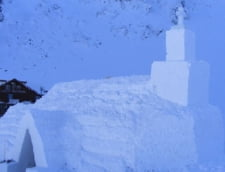 Singura biserica de gheata din Romania va fi gata dupa Boboteaza