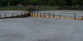 Singura plaja ecologica din Bucuresti a fost betonata: Oamenii care se bronzau ii deranjau pe ceilalti