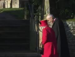 Slujba de Craciun a reginei Elisabeta a II-a, fara sotul Philip, dar cu printul Andrew (Video)