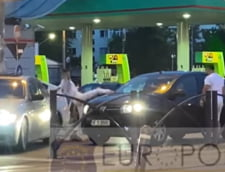 Soferul cu Logan atacat in trafic de doi tineri cu BMW. Prietena agresorului a iesit din masina cu o maceta VIDEO