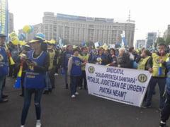 "Solidaritatea Sanitara Neamt a protestat in ""Piata Victoriei sindicale"""