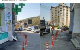"""Solutie controversata. Primaria Slatina a dat liber la parcarea pe trotuar. """"Potecuta aceea ingusta este zona pietonala?"""""""