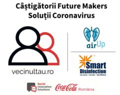 Solutii castigatoare romanesti la provocarile COVID-19: VecinulTau.ro, Air Up ventilator si Smart Disinfection System