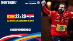 Spania castiga Campionatul European de handbal dupa o finala de infarct cu Croatia