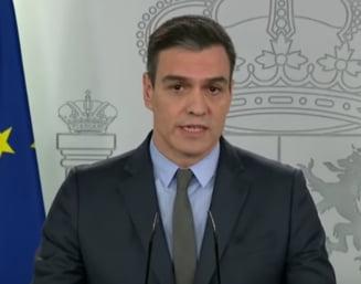 "Spania mai lasa sa mearga la munca doar angajatii din 3 domenii. Sanchez cere UE sa activeze ""economia de razboi''"