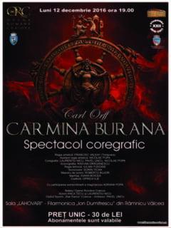 "Spectacol coregrafic ""Carmina Burana"", pe scena filarmonicii valcene"