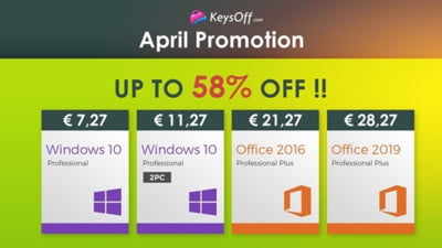 Spring Sale 2021: Windows 10 Professional la 7.27 euro, Office 2019 Pro Plus la 28.27 euro si multe altele!